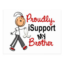I Support My Brother SFT (Bone / Lung Cancer) Postcard