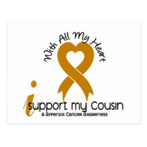I Support My Cousin Appendix Cancer Postcard