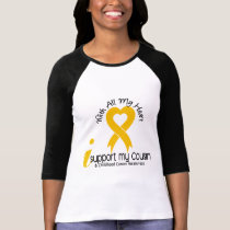 I Support My Cousin Childhood Cancer T-Shirt