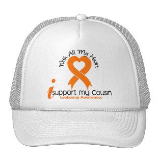 I Support My Cousin Leukemia Mesh Hats