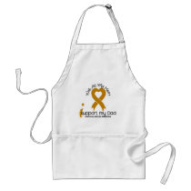 I Support My Dad Appendix Cancer Adult Apron