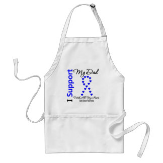 I Support My Dad Colon Cancer Adult Apron
