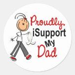 I Support My Dad SFT (Bone / Lung Cancer) Classic Round Sticker