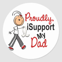 I Support My Dad SFT (Bone / Lung Cancer) Classic Round Sticker