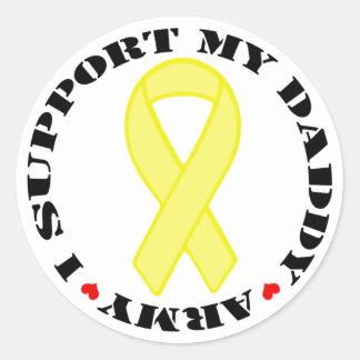 I Support My Daddy - Army Classic Round Sticker