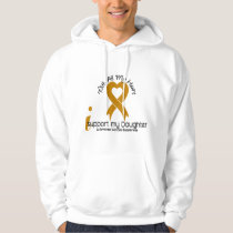 I Support My Daughter Appendix Cancer Hoodie
