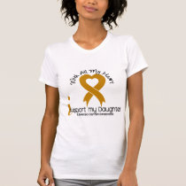 I Support My Daughter Appendix Cancer T-Shirt