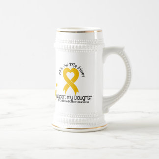 I Support My Daughter Childhood Cancer Beer Stein