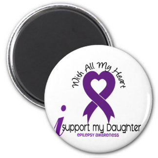 I Support My Daughter Epilepsy 2 Inch Round Magnet