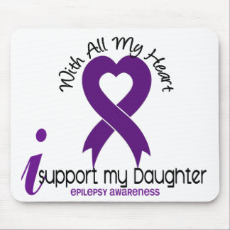 I Support My Daughter Epilepsy Mouse Pad