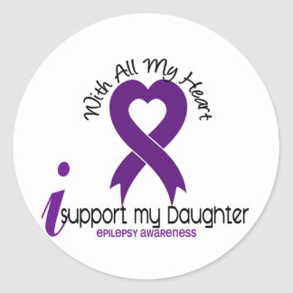 I Support My Daughter Epilepsy Stickers