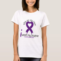 I Support My Daughter Epilepsy T-Shirt