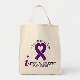I Support My Daughter Epilepsy Tote Bag