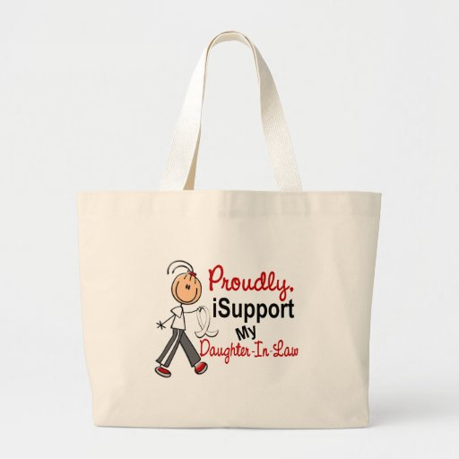 I Support My Daughter-In-Law SFT Bone/Lung Cancer Tote Bags