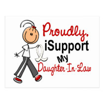 I Support My Daughter-In-Law SFT Bone/Lung Cancer Postcard