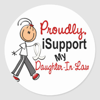 I Support My Daughter-In-Law SFT Bone/Lung Cancer Round Sticker