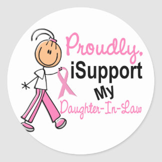 I Support My Daughter-In-Law SFT Breast Cancer T-S Stickers