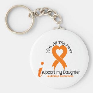 I Support My Daughter Leukemia Keychain