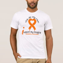 I Support My Daughter Leukemia T-Shirt