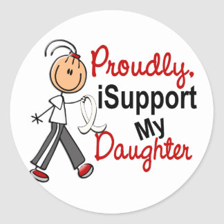 I Support My Daughter SFT (Bone / Lung Cancer) Sticker