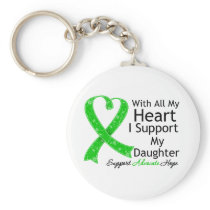 I Support My Daughter With All My Heart Keychain