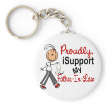 I Support My Father-In-Law SFT Bone / Lung Cancer Keychain