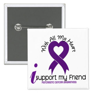 I Support My Friend Pancreatic Cancer Button