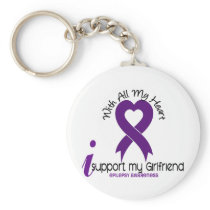 I Support My Girlfriend Epilepsy Keychain