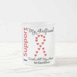 I Support My Girlfriend - Heart Disease Coffee Mug