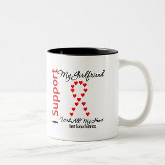 I Support My Girlfriend - Heart Disease Mugs
