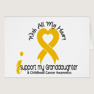 I Support My Granddaughter Childhood Cancer Card
