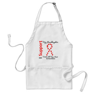 I Support My Granddaughter - Heart Disease Adult Apron