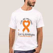 I Support My Granddaughter Leukemia T-Shirt