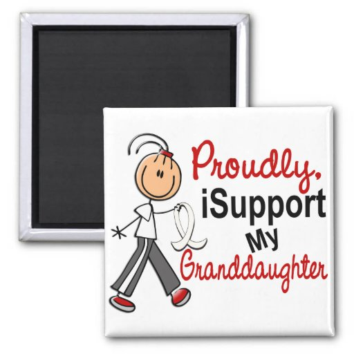 I Support My Granddaughter SFT (Bone / Lung Cancer Refrigerator Magnet