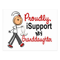I Support My Granddaughter SFT (Bone / Lung Cancer Postcard