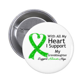 I Support My Granddaughter With All My Heart 2 Inch Round Button