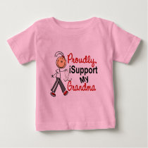 I Support My Grandma SFT (Bone / Lung Cancer) Baby T-Shirt