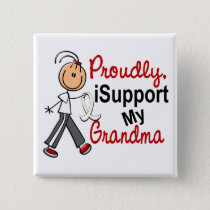 I Support My Grandma SFT (Bone / Lung Cancer) Pinback Button