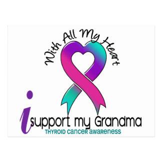 I Support My Grandma Thyroid Cancer Postcard