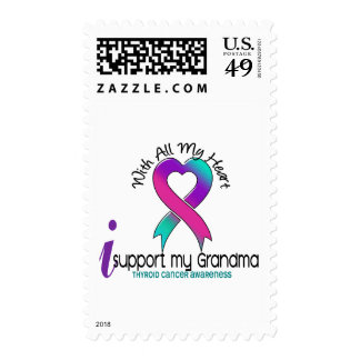 I Support My Grandma Thyroid Cancer Stamps