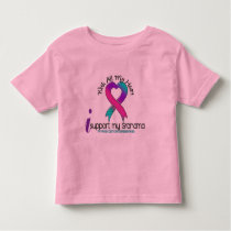I Support My Grandma Thyroid Cancer Toddler T-shirt