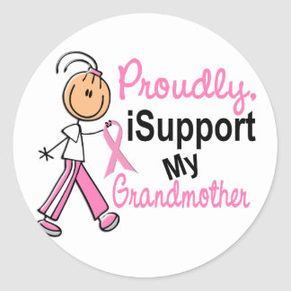 I Support My Grandmother SFT Breast Cancer T-Shirt Stickers