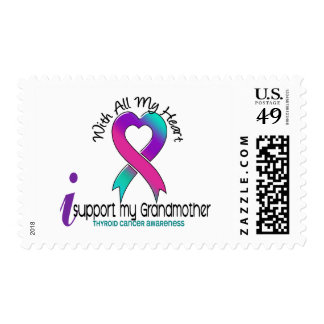I Support My Grandmother Thyroid Cancer Postage