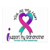 I Support My Grandmother Thyroid Cancer Postcard