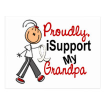 I Support My Grandpa SFT (Bone / Lung Cancer) Postcard