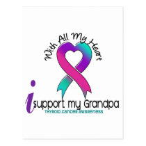 I Support My Grandpa Thyroid Cancer Postcard