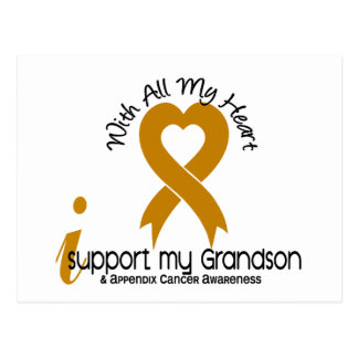 I Support My Grandson Appendix Cancer Postcard