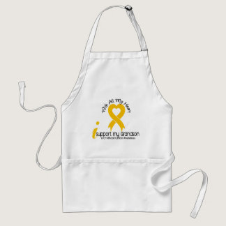 I Support My Grandson Childhood Cancer Adult Apron