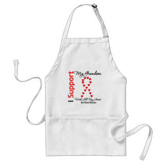 I Support My Grandson - Heart Disease Adult Apron