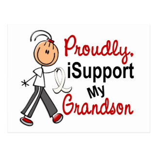 I Support My Grandson SFT (Bone / Lung Cancer) Postcard